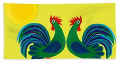 Year Of The Rooster Bath Towel
