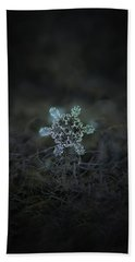 Hand Towel featuring the photograph Real Snowflake - Slight Asymmetry New by Alexey Kljatov