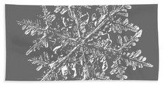 Snowflake Vector - 2017-02-13_3 Black Bath Towel