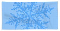 Snowflake Vector - Silverware White Hand Towel