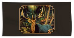 Elk Painting - Autumn Majesty Bath Towel