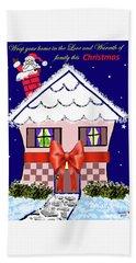 Christmas Card Bath Towel