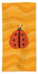 Orange Ladybug Masked As Autumn Leaf Hand Towel