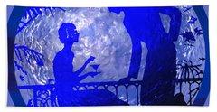 Blue Moonlight Lovers Bath Towel