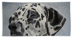 Dalmatian Portrait Bath Towel
