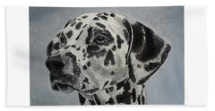 Dalmatian Portrait Bath Towel