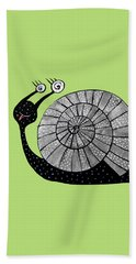 Cartoon Snail With Spiral Eyes Hand Towel