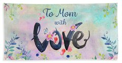 Mother's Day Love Hand Towel