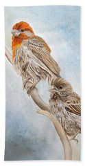 House Finch Couple Hand Towel