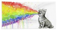 Kitten Tastes The Rainbow Hand Towel