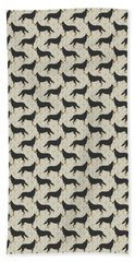 German Shepherd Dog With Field Grasses Hand Towel