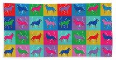 Pop Art German Shepherd Dogs Bath Towel