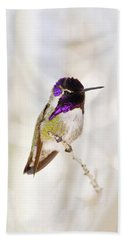 Hummingbird Bath Towel by Rebecca Margraf