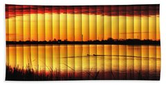 Magnificent Sunrise Swim Hand Towel by Bill Kesler