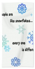 Snowflakes 3 Bath Towel by Methune Hively