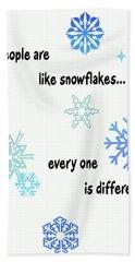 Snowflakes 3 Bath Towel