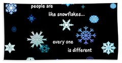 Snowflakes 4 Bath Towel by Methune Hively