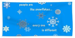Snowflakes 5 Hand Towel by Methune Hively