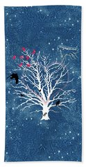 Dreamcatcher Tree Hand Towel by Methune Hively