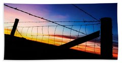 Hand Towel featuring the photograph Hilltop Sunset by Bill Kesler