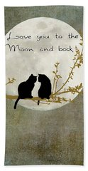 Love You To The Moon And Back Hand Towel by Linda Lees