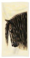 Horse Painting - Friesland Nobility Bath Towel