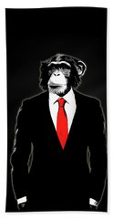 Domesticated Monkey Hand Towel by Nicklas Gustafsson