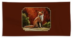 Sun Fox Hand Towel by Crista Forest