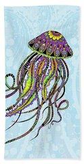 Electric Jellyfish Hand Towel by Tammy Wetzel