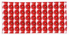 Beautiful Red Poppy Papaver Rhoeas Bath Towel by Marianne Campolongo
