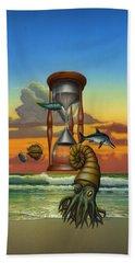 Evolution - Extinct Wildlife - Early Sea Life - Prehistoric Sea Creatures - Fossils - Cephalopods Bath Towel