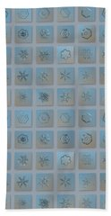 Hand Towel featuring the photograph Snowflake Collage - Season 2013 Bright Crystals by Alexey Kljatov