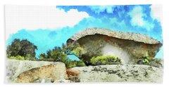 Arzachena Mushroom Rock Hand Towel