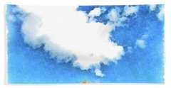 Arzachena Mushroom Rock With Cloud Bath Towel