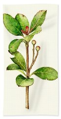 Hand Towel featuring the painting As The Twig Is Bent The Tree Inclines. by Heidi Kriel