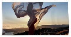 As The Wind Carries The Flower Of A New Life Bath Towel