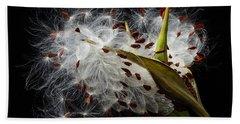 Asclepias Seed Pod Hand Towel