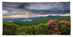 Asheville North Carolina Blue Ridge Parkway Thunderstorm Scenic Mountains Landscape Photography Hand Towel
