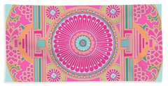 Bath Towel featuring the digital art Asian Inspiration Mandala by Joy McKenzie