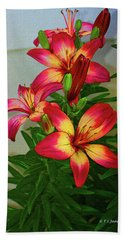 Asian Lilly Spring Time Hand Towel