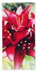 Asiatic Lilies Bath Towel