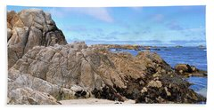 Hand Towel featuring the photograph Asilomar State Marine Reserve by Gina Savage