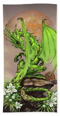 Hand Towel featuring the digital art Asparagus Dragon by Stanley Morrison