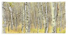 Aspen Forest 2 - Photo Painting Hand Towel