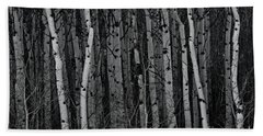 Aspen Forest Hand Towel by Brad Allen Fine Art
