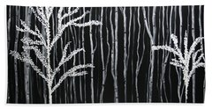 Bath Towel featuring the painting Aspen Forest by Dolores  Deal
