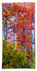 Aspen Grove In Summer Bath Towel by Ann Johndro-Collins