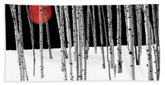 Bath Towel featuring the photograph Aspen Grove Winter by Juli Scalzi