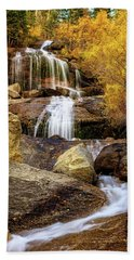 Aspen-lined Waterfalls Hand Towel