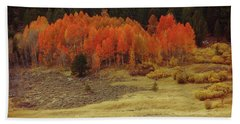 Aspen, October, Hope Valley Bath Towel by Michael Courtney